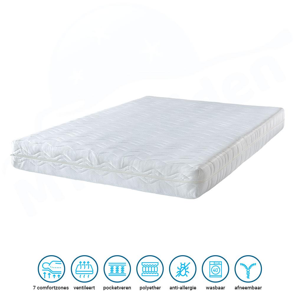 ventilerend matras met pocketvering 21cm