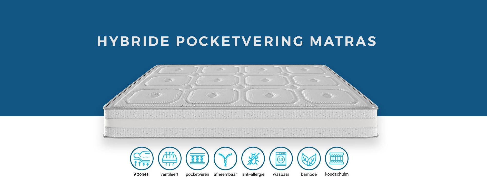 hybrid matrassen pocketvering