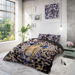 dreamhouse cheetah taupe dekbedovertrek