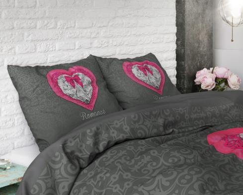 sleeptime elegance romance heart dekbedovertrek