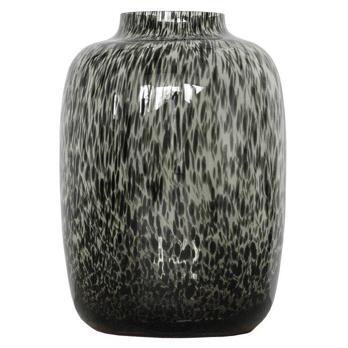 vaas met print zwart
