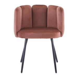 high five stoel koper met ijzeren poten