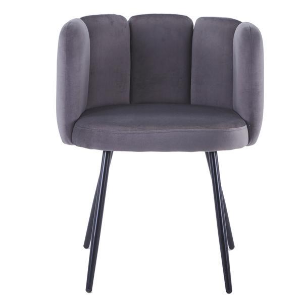 high five stoel grijs met ijzeren poten