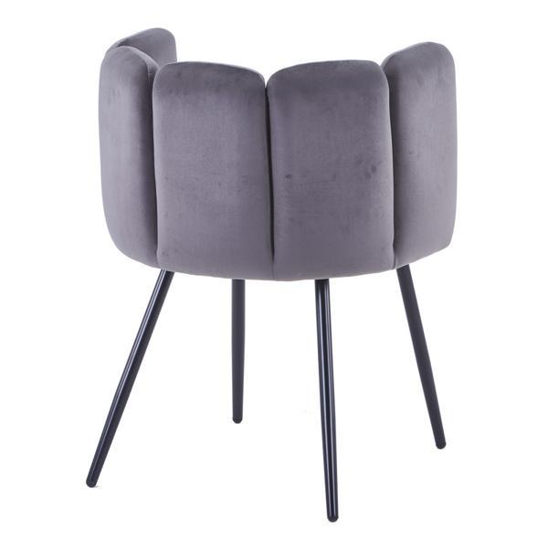 high five stoel grijs met ijzeren poten achterkant
