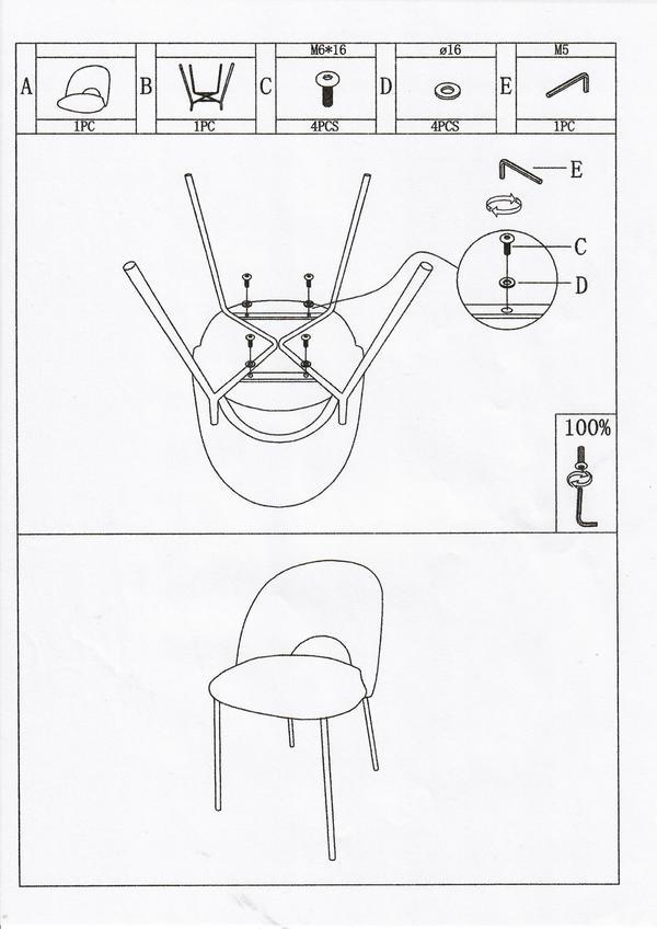 beschrijving cave stoel met ijzeren poten